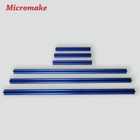Micromake 3D Printer Parts Colorful V Slot Rail Aluminum Profile Extrusion 2020 12pcs Lot CNC Machine