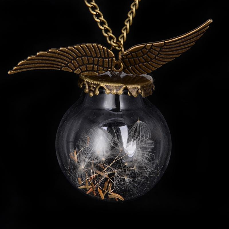 Angel wings Vial Necklaces