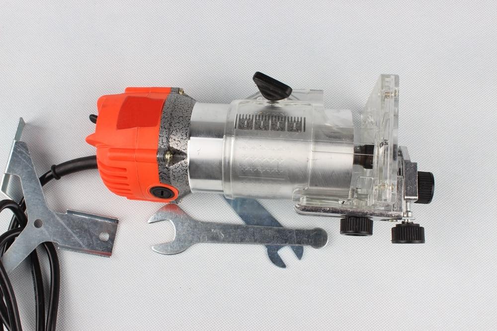 300W à 600W Aluminium housting outils électriques à bois tondeuse machine outils de menuiserie gravure avec 12 pièces ensembles de matrices - 3