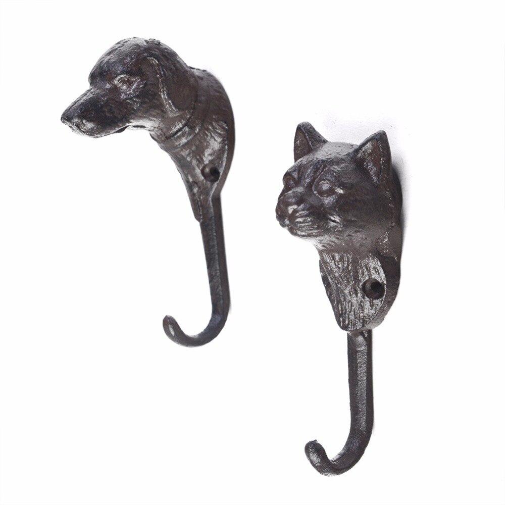 Cast Iron Door Knocker Cat or Dog Design