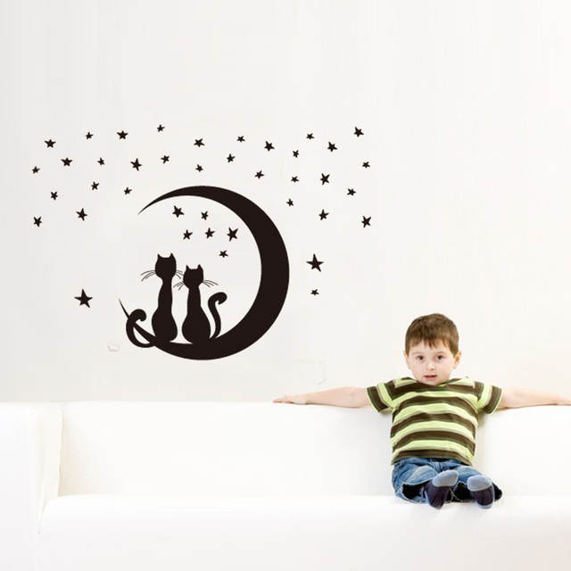 Comprar gato mooncartoon diy pegatinas de for Pegatinas pared ninos