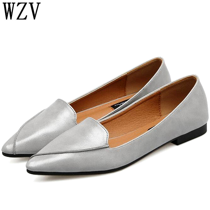 2019 Women Flats Fashion Pointed Toe Shoes Woman Loafers Summer Fashion Genuine Leather Flat Casual Shoes Women Zapatos Mujer2019 Women Flats Fashion Pointed Toe Shoes Woman Loafers Summer Fashion Genuine Leather Flat Casual Shoes Women Zapatos Mujer