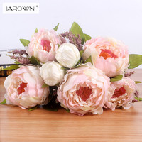 7 Heads Bunch 2016 New Silk Simulation Artificial Flower Peony Flower Bouquet