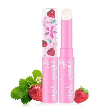 1PC Women Lipbalm Strawberry Temperature Changed Color Lip Balm Pink Color Moisturizer Nutritious Lipstick Beauty Lip Care TSLM1
