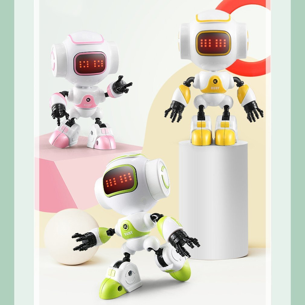 R9 RC Robot Touch Sensing LED Eyes inteligente voz DIY gesto cuerpo de aleación Mini modelo de Robot de juguete regalo para los niños