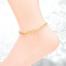 8 слово цепи нержавеющая сталь браслет для женщин silver/gold/розовое золото цвет для выбирают