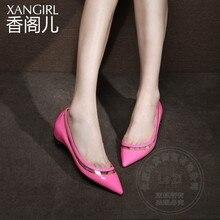 หอยทากPickerเจ้าหญิงเสื้อสีกล้ามเนื้อวัวเกรซโจ๊กร้อนขายสตรีสูงรองเท้าส้นต่ำ2015คุณภาพสไตล์
