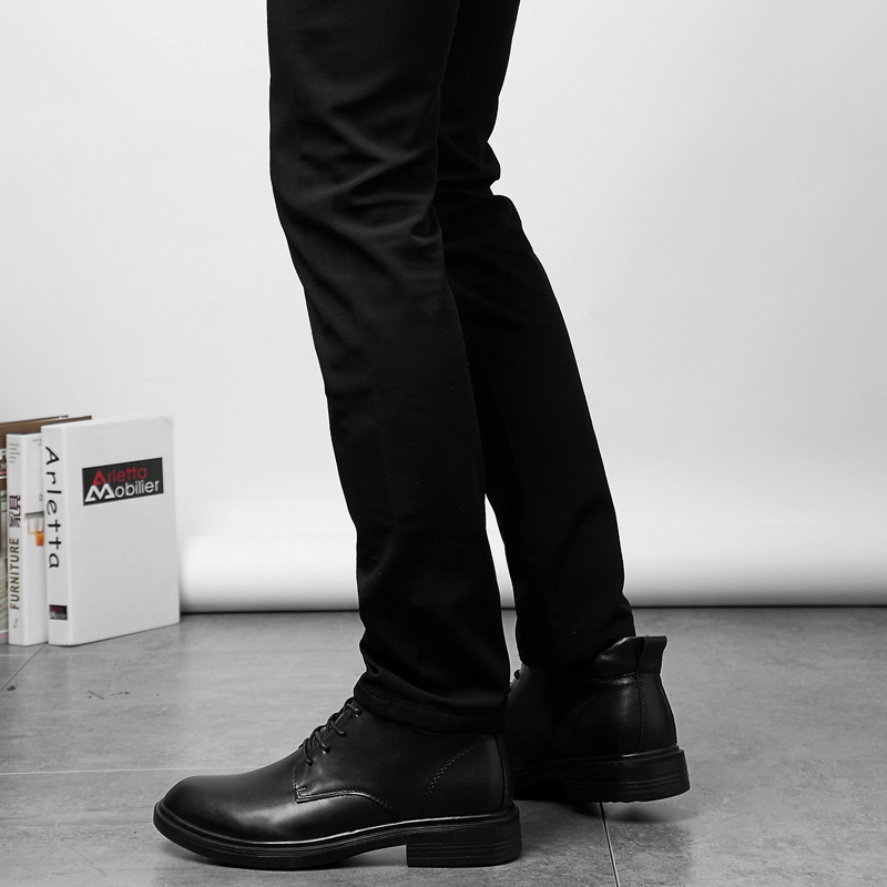 Slip Pai Up Livre Boots Botas Fur Tamanho Inverno Couro 50 Anti De Black K3 Moda Homem Grande Genuíno Neve Ankle Ar black Lace Ao PwqTw6aHW