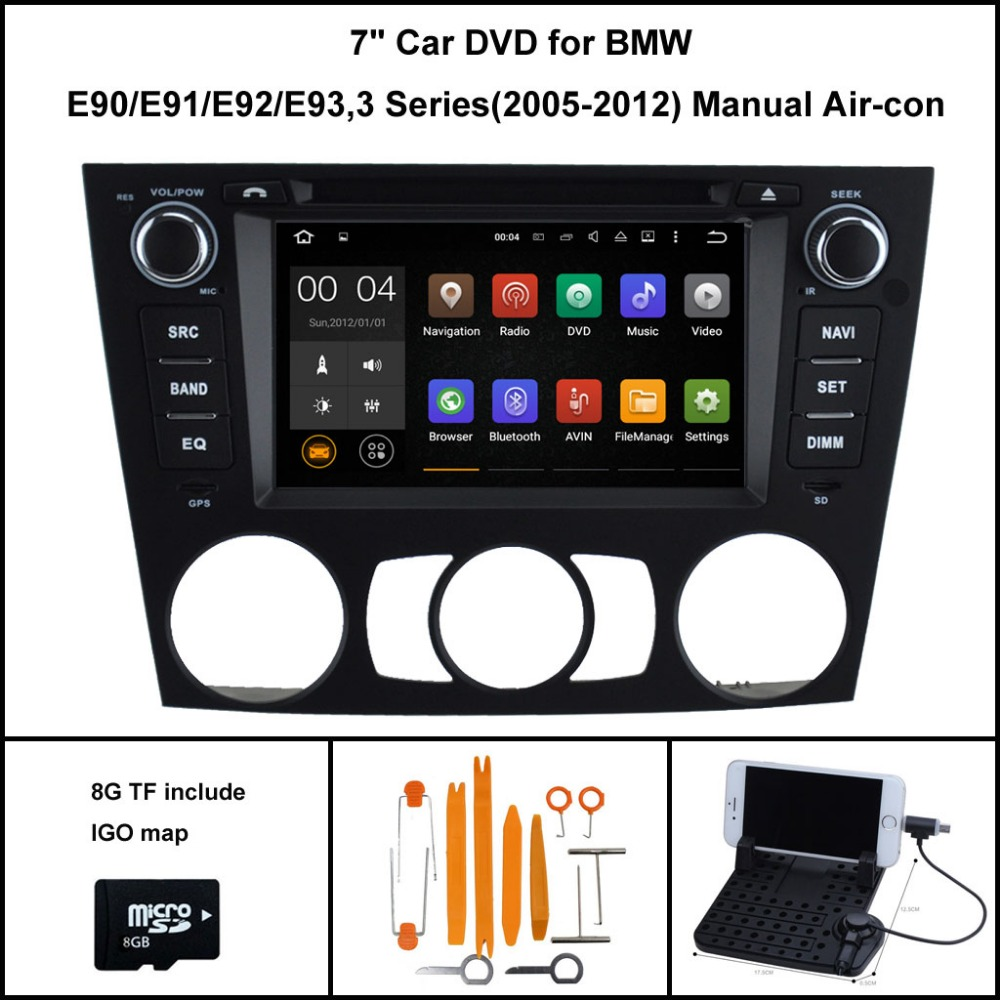 Android 7 1 Quad Core font b CAR b font DVD palyer for BMW 3 Series