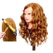 26inch 99% Real Hair Training Head Hairdressing Mannequin Doll Styling Manikin For Salon