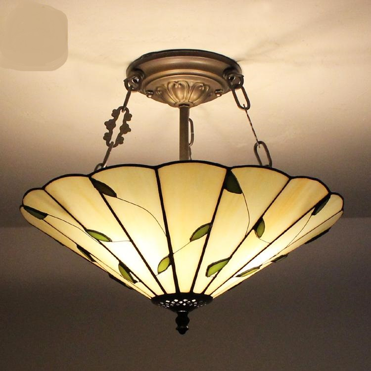Tiffany the United States and rural pastoral art glass lamp creative simple study bedroom bedroom hall Pendant Lights ZH DF62 creative lamp the dog contemporary and contracted study lamp bedroom the head of a bed folding the mywood art lighting