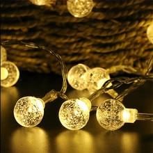 220V Crystal Ball string light 10M 50 led Christmas holiday Wedding party decoration fairy