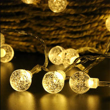 220V Crystal Ball string light 10M 50 led Christmas holiday Wedding party decoration fairy light(China)