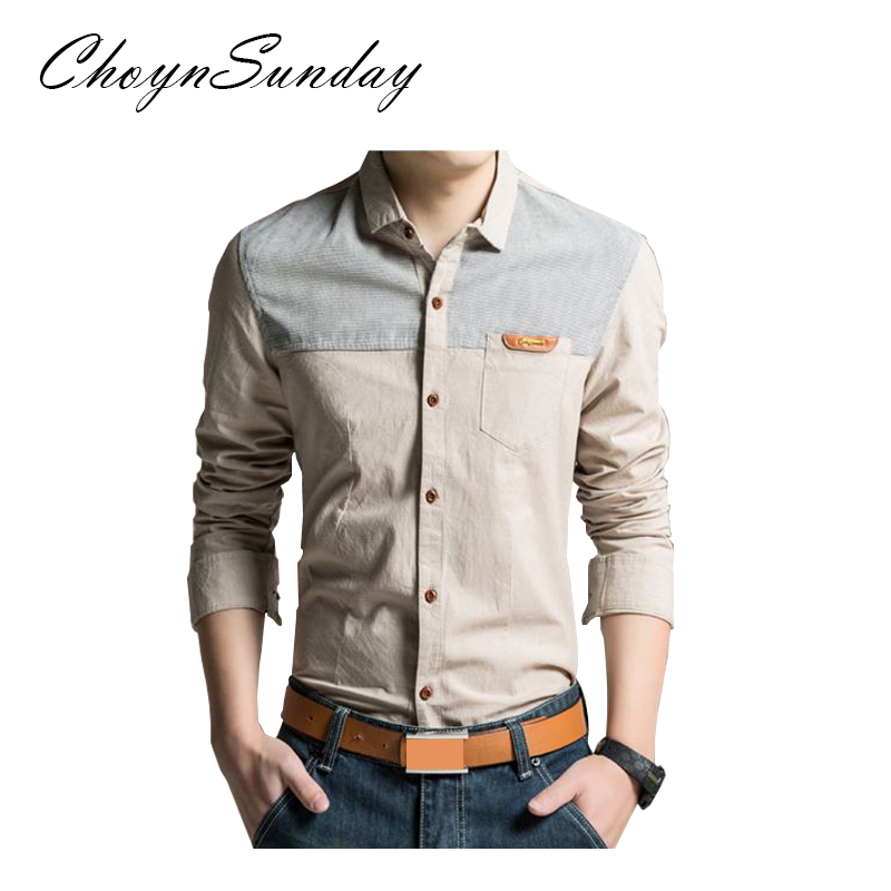 ChoynSunday 2018 new trend Men's Youth Slim Spring and Autumn Casual Shirt Men's Imitation Denim Shirt Men's Long Sleeve shirt 3