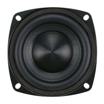 GHXAMP 3 inch Woofer Subwoofer Speaker 4ohm 25W Hifi Square Bass Speaker Black Alumina Ceramic Cap Rubber Edge 2pcs 2