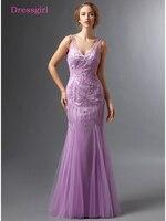 Lavender 2018 Mother Of The Bride Dresses Mermaid V Neck Tulle Beaded Plus Size Long Elegant