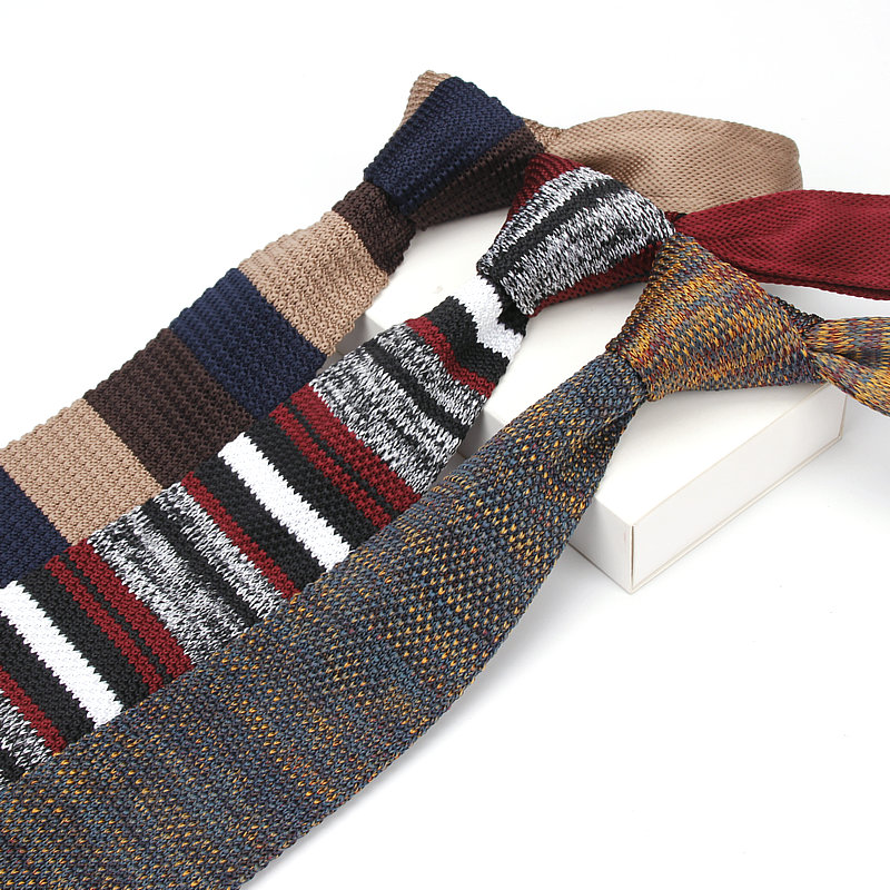 Ianthe Brand New Style Fashion Men's Colourful Tie Knit Knitted Ties Necktie Narrow Slim Skinny Woven Cravate Narrow Neckties