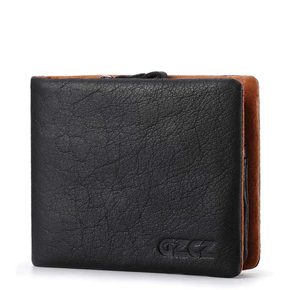GZCZ 2018 New Men Mini Wallets Cowhide Casual Small Coin Purse Soft 100% Genuine Leather Card Case Gift For Boy friend Clutch