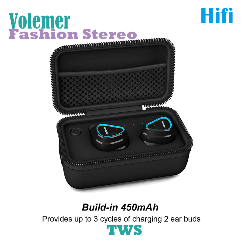 Volemer Original True Wireless Headphones Bluetooth Stereo Earbuds Sweatproof Binaural Earhook Headsets Fashion Hifi Earphones радиотелефон dect panasonic kx tg1611rur красный
