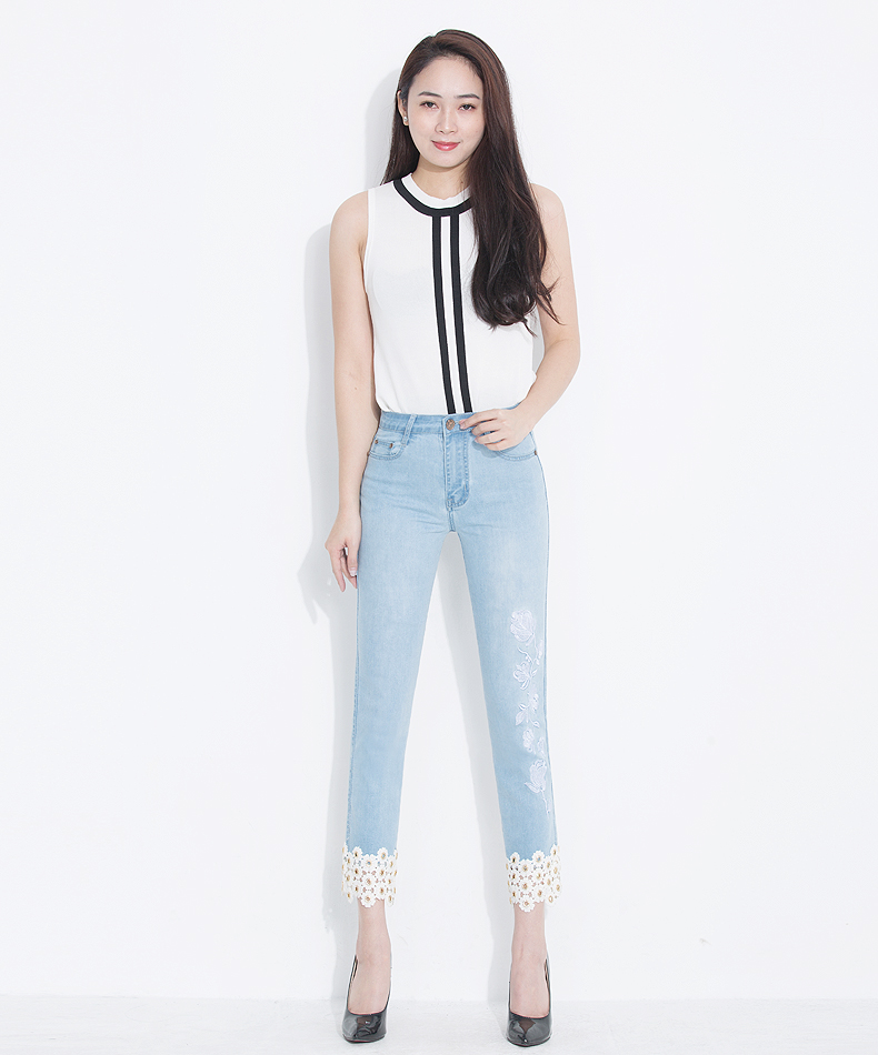 KSTUN jeans woman high waisted stretch straight slim fit jeans vintage push up sexy ladies jean femme 2018 denim pants plus size 11