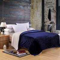 Solid Luxury Polar Fleece Blanket Thick Blanket Throws For Sofa High Quality New Store Sale