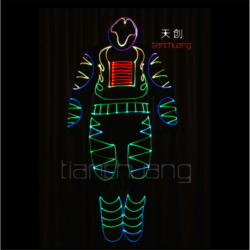 TC 92 Programming design led robot costumes ballroom luminous cloth font b men b font models