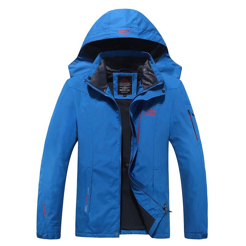 Women Hooded Wind Jackets Outdoor Winter Warm Fleece Rain Coat Windbreaker Coats
