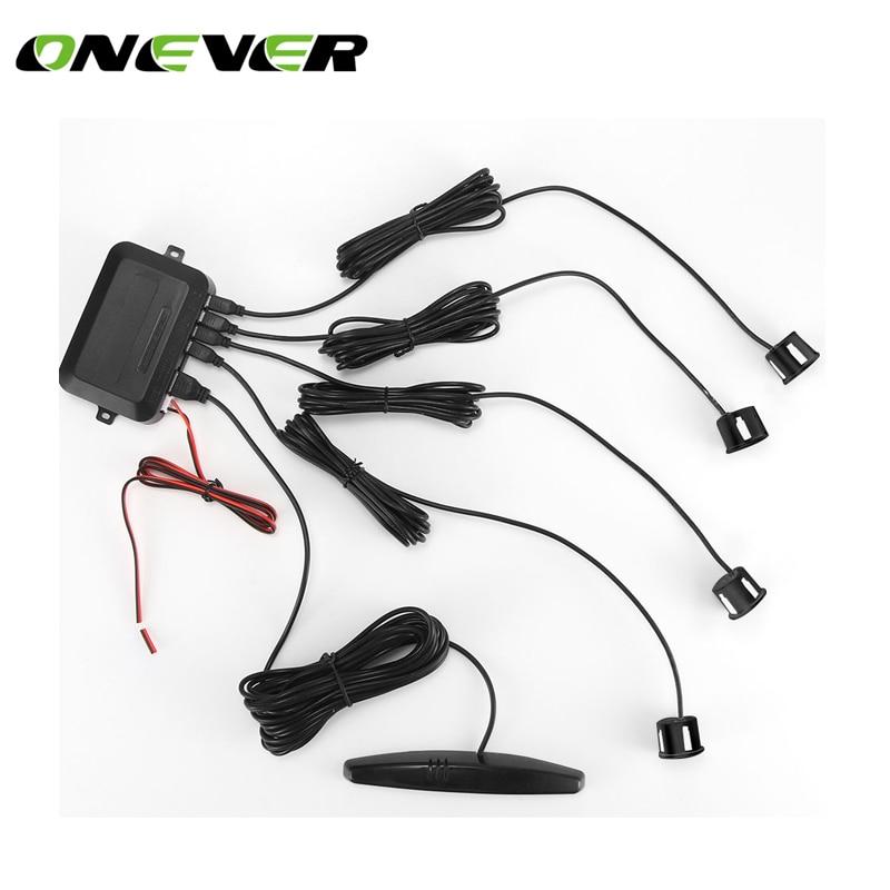 LED Парковка Сенсор авто детектор парктроник Дисплей обратный резервный радар Мониторы Системы с 4 Датчики