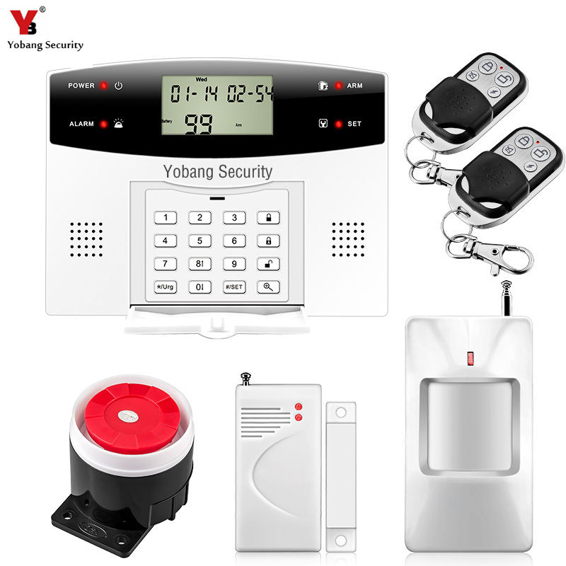 YobangSecurity Wireless GSM Home Alarm System English Russian French Spanish Italian Cezch Voice Door Sensor PIR Detector