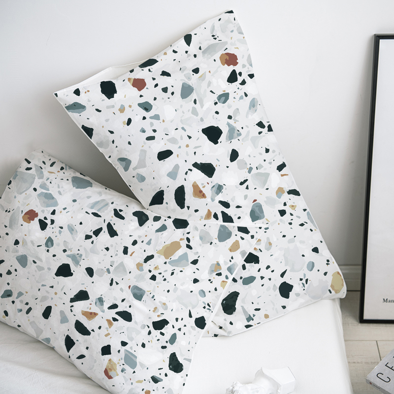 Custom Pillow Case Pillowcase 50x70 50x75 50x80 70x70 Decorative Pillow Cover Green Marble Bedding For Wedding Drop Shipping