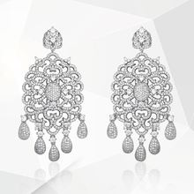 Newness Shape Tassel Drop Cubic Zirconia Luxury Especially Women Engagement Earrings Jewelry Party Gift