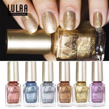 Lulaa 6 Colores Abrillantador De Uñas Holográfico Brillo Gel
