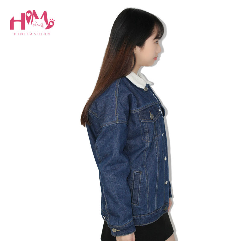 2016 New Fashion Winter Korean Edition Thickening And Cotton Denim Cotton Female Loose Jacket  2