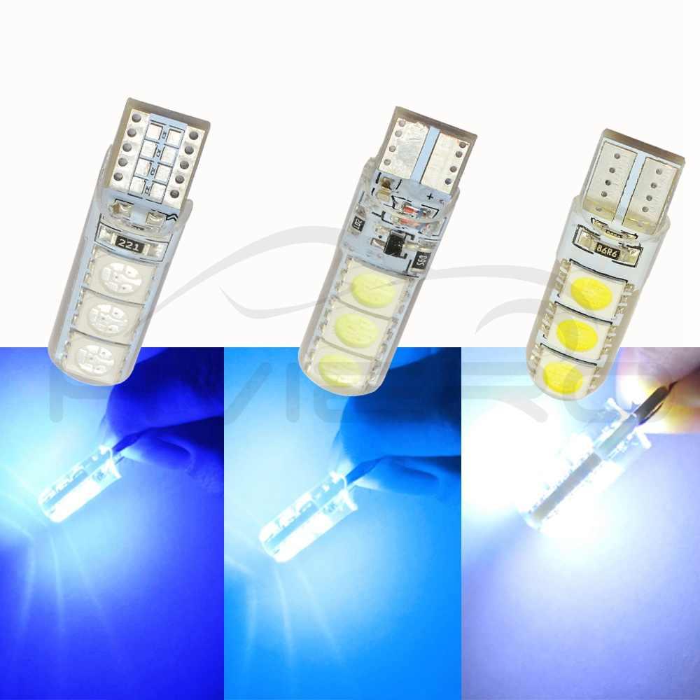 Автомобильный светодиодный T10 194 W5W DC 12 V Canbus 6SMD 5050 силиконовый корпус светодиодные лампы без ошибок светодиодный фонарь для парковки противотуманных фар Автомобильная фара