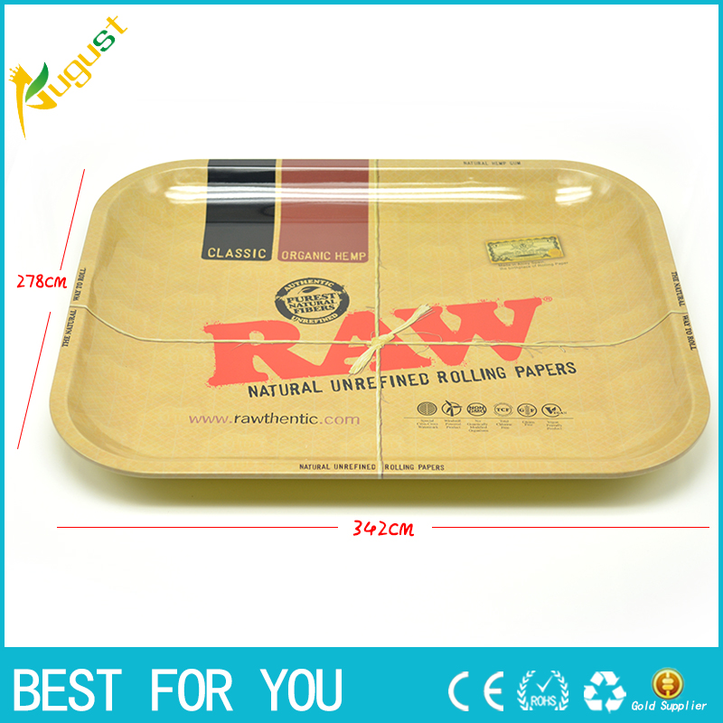 1pc RAW iron plate storage tray Cigarette essential accessories RAW rolling trays 34 2 27 8cm