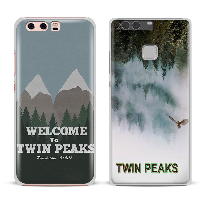 Twin Peaks For Huawei Ascend P8 P9 Lite 2017 P10 Plus Honor 6x 7i 8 V8 V9 Mate 7 8 9 Nova 2 Fashion Mobile Phone Case Cover bag