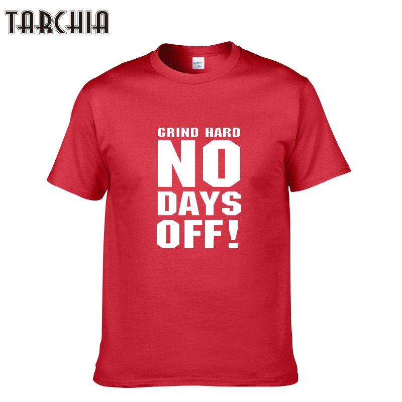 TARCHIA New 2019 NO DAYS OFF! Print Brand Tops Cotton Short Sleeve Summer T Shirts Casual Hip Hop Men Tees Tops Homme T-Shirts