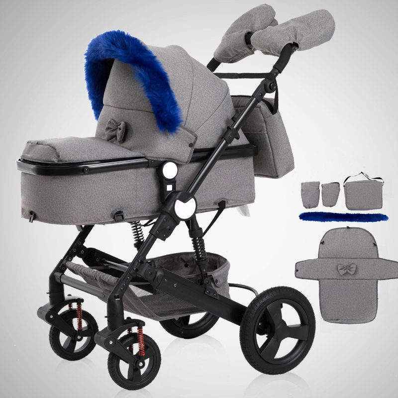 Luxury Baby Stroller 2 in 1 High-Landscape Pram Portable Folding baby Carriage Cheaper