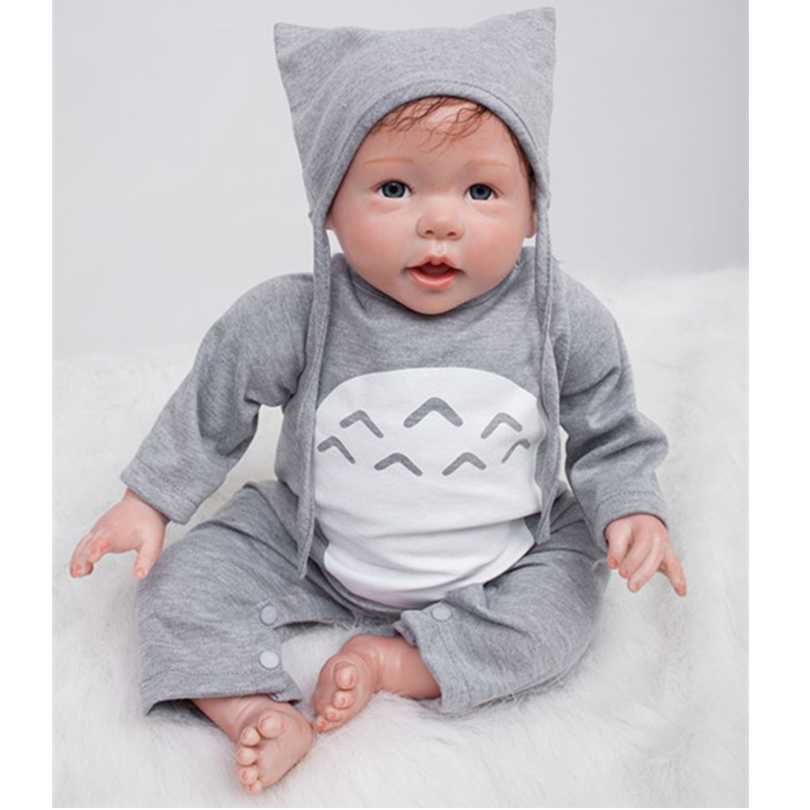 50cm Soft Silicone Reborn Boys Babies Doll Lifelike Lovely Newborn Baby Doll Bebe Reborn Birthday Gift Present To Child Play Ho newest silicone reborn doll 50cm 20 handsome baby reborn dolls lifelike baby newborn christmas birthday gift juguetes for kids
