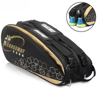 Professional Racquet Sports Bag Large Badminton Bags Tennis Backpack 2019 Tennis Racket Bag For Shoes Badminton Accessories
