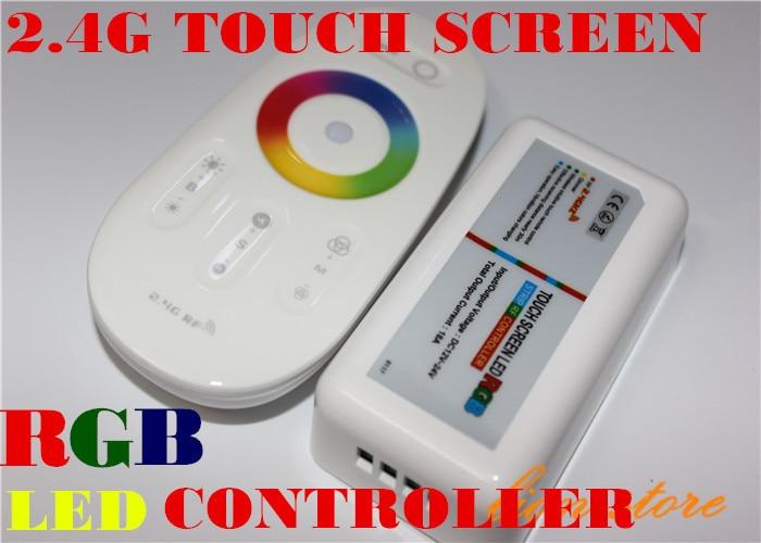 DC12-24A 18A RGB led controller 2,4G touchscreen RF fernbedienung ...