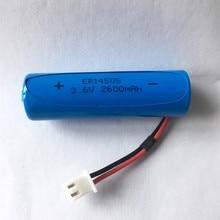 3.6v er14505 14505 2600mah ls14500 Li SOCl2 bateria de lítio spc equipamentos médicos bateria 10pcs alta qualidade frete grátis