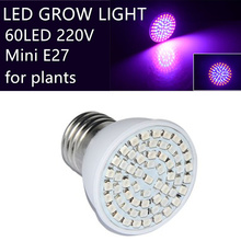 led grow light 60led e27 15w For Flowering Plant and Hydroponics Outdoor Lighting 60Leds Bulb Lamp