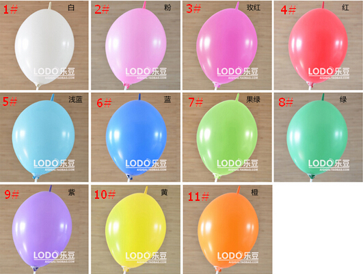 BK 100 Pieces Lot Balloon Latex Standard Color Tail 9 Inch Birthday Party Wedding Decoration