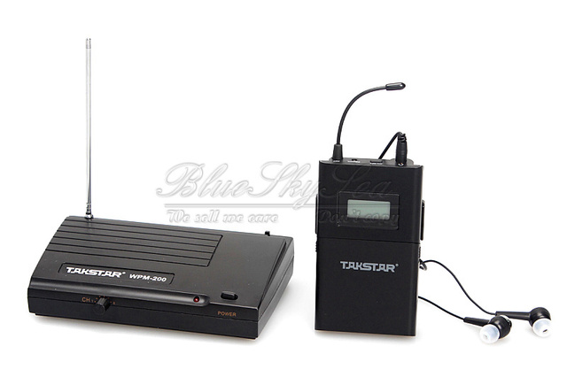 Free Shipping!New TAKSTAR wpm-200 In Ear Professional Stage Wireless Monitor System receiver transmitter earphone