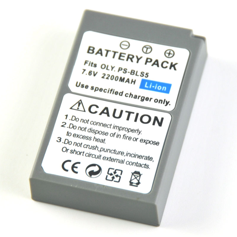 BLS-5 BLS5 PS-BLS5 Battery For Olympus E-PL2 EPL2 E-PL5 EPL5 E-PL6 EPL6 E-PL7 E-PM2 EPM2 Stylus 1 1S OM-D E-M10 EM10 Mark III II