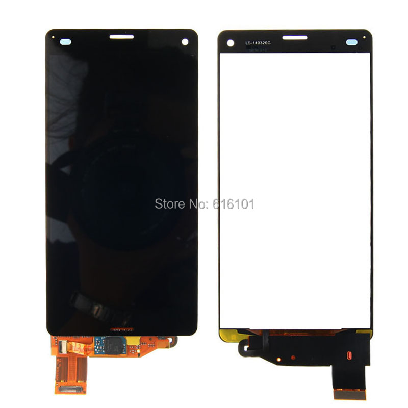 1pc/lot Free Shipping LCD Display Touch Screen Digitizer Glass Lens Assembly For Sony Xperia Z3 Compact Z3 Mini D5803 D5833 M55W