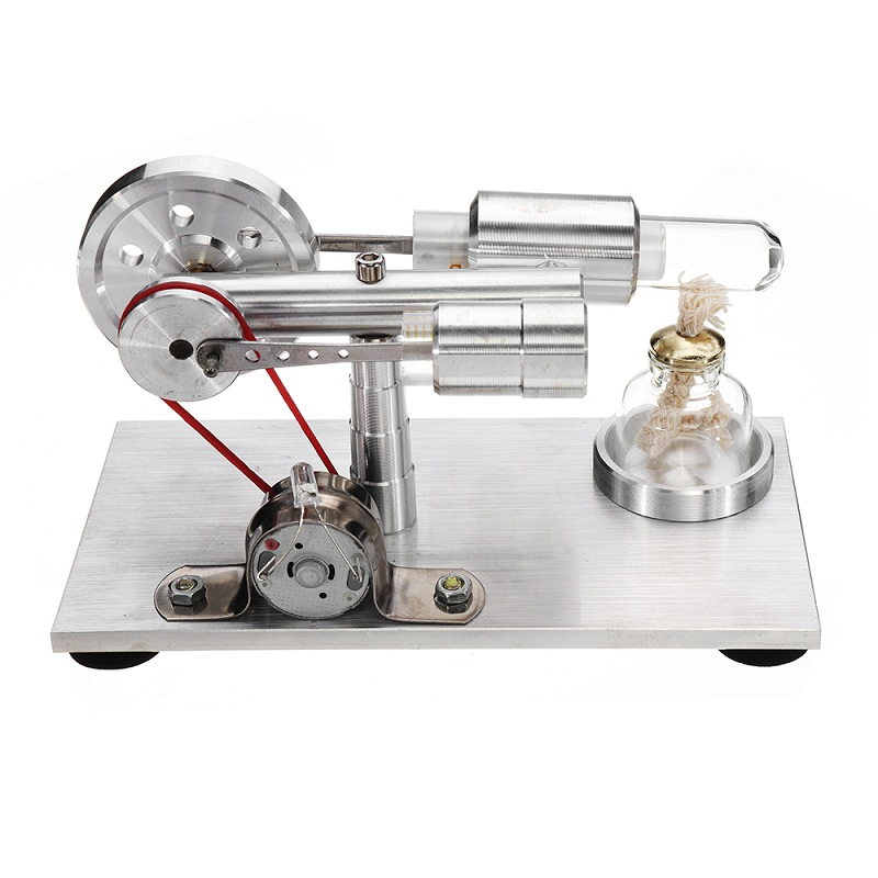 Générateur de Moteur Stirling Modèle Moteur Science Physique Éducatif De Laboratoire Vapeur Puissance Jouet