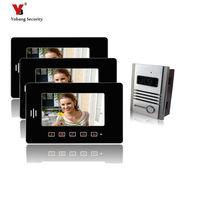 Yobang Güvenlik freeship 7 inç Ekran Dokunmatik Düğme Akıllı Diyafon görüntülü interkom kapı zili Daire için Yanıtlama Sistemi