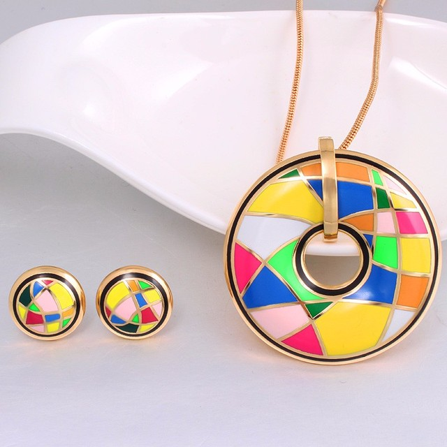 Color Design (Necklace, Earring) 4